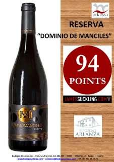 Ερυθροί οίνοι Dominio de Manciles, Reserva