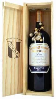 Ερυθροί οίνοι Magnum Imperial  en caja de madera
