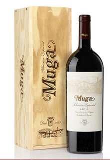 Ερυθροί οίνοι Muga  Selección Especial Magnum en caja de madera